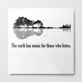 The Earth Has Music For Those Who Listen Guitar Metal Print