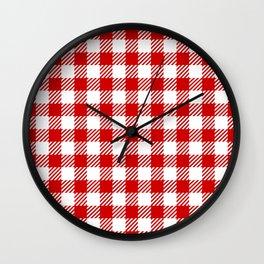 Red Vichy Wall Clock
