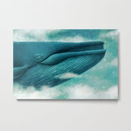 Dream of The Blue Whale Metal Print