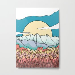 Peaks above the forest Metal Print