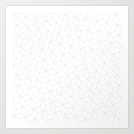 3D Cubes Art Print