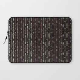 Scandi-Sticks A - Vertical - Greens Laptop Sleeve