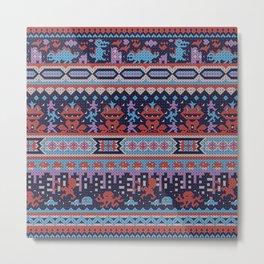serbian history told through cross-stitch Metal Print