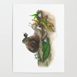 Little Worlds: Snail and Cricket Poster