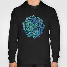 Watercolor Medallion in Ocean Colors Hoody