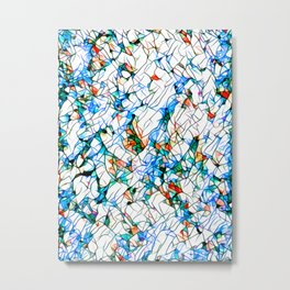 Glass stain mosaic 1 abstract - by Brian Vegas Metal Print
