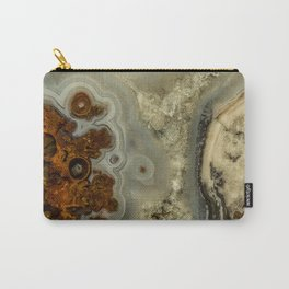 Colorfull pattern of a mineral stone Carry-All Pouch