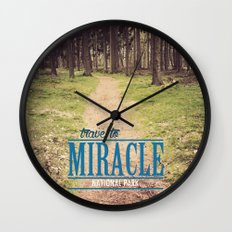 Travel to Miracle National Park Wall Clock