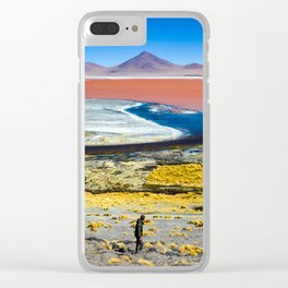 Laguna Colorada Clear iPhone Case