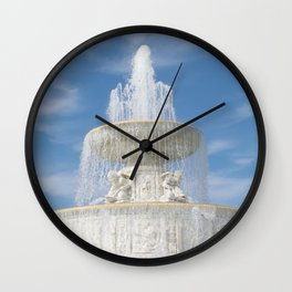 Belle Isle Fountain Top Wall Clock