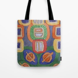 Lying Robot Tote Bag