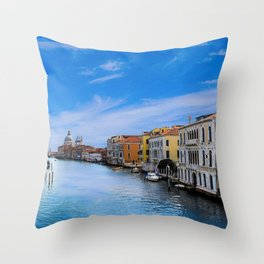 Venice, Italy Canels right before twilght Throw Pillow