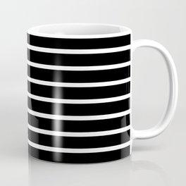 Black and White Horizontal Stripes Pattern Coffee Mug