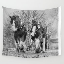 Working Horses Wall Tapestry