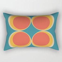 Minimalist mid century modern circles in a square Rectangular Pillow