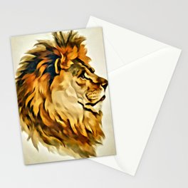 MAJESTIC LION PORTRAIT Stationery Cards