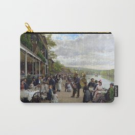 Sunday in Bas-Meudon Landscape Painting by Firmin-Girard Carry-All Pouch