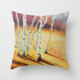 Fall Maple Trees Throw Pillow