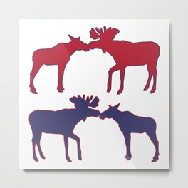 Graphic US Silhouette Moose 04 Metal Print