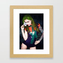 I believe whatever doesn't kill you, simply makes you…stranger. Framed Art Print