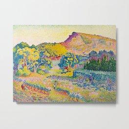 Henri-Edmond Cross Neo-Impressionism Landschaft mit Le Cap Nègre Paysage avec le cap Nègre Metal Print