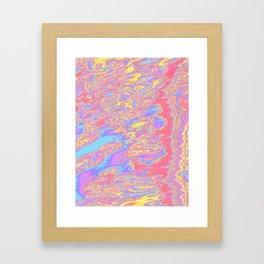 sideways strata Framed Art Print