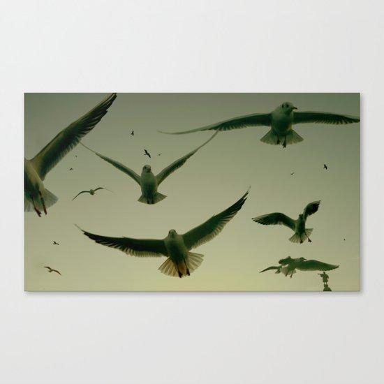 Green Hitchcock Canvas Print