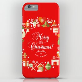The Circle of Christmas Stuffs iPhone Case