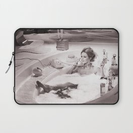 Brigitte Bardot in Bubble Bath , Vintage Laptop Sleeve