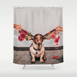 Hearing flowers Shower Curtain