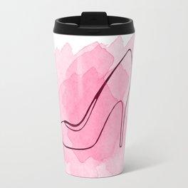 Pink Shoe Travel Mug