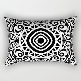 B&W Geometric Mandala 03 Rectangular Pillow