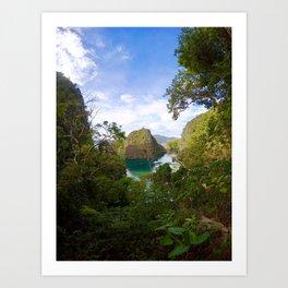 Coron Kayangan Lake viewpoint Art Print