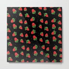 Strawberries in Space Metal Print