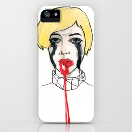 Pain - the look when you are mentally stress out - to death. iPhone Case