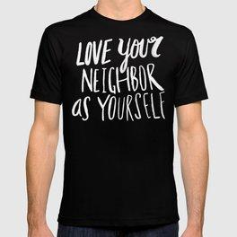Love Your Neighbor x Navy T-shirt