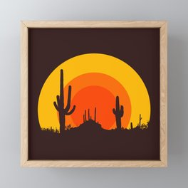 mucho calor Framed Mini Art Print