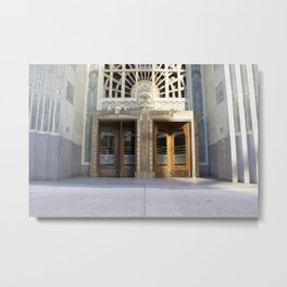 Revolving doors Marine Building Metal Print