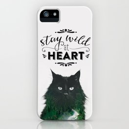 Fine-Art-Print STAY WILD AT HEART iPhone Case