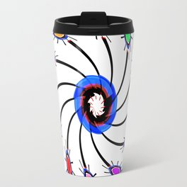 Abstract Node Swirls Travel Mug