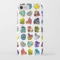 crystals iPhone & iPod Cases featuring Crystals by ShannonPosedenti