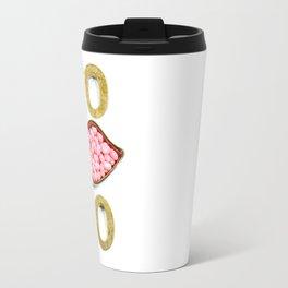 XOXO Pink Gold Lips - 1015 Travel Mug