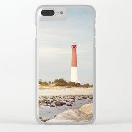 Barnegat Lighthouse Long Beach Island New Jersey Shore, Old Barney Light house LBI Clear iPhone Case