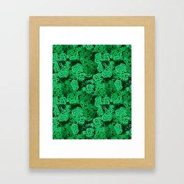 Malachite Puzzle Piece Tiles Framed Art Print