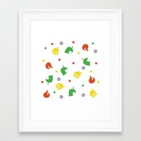 animal crossing Framed Art Prints featuring Animal Crossing by Bradley Bailey