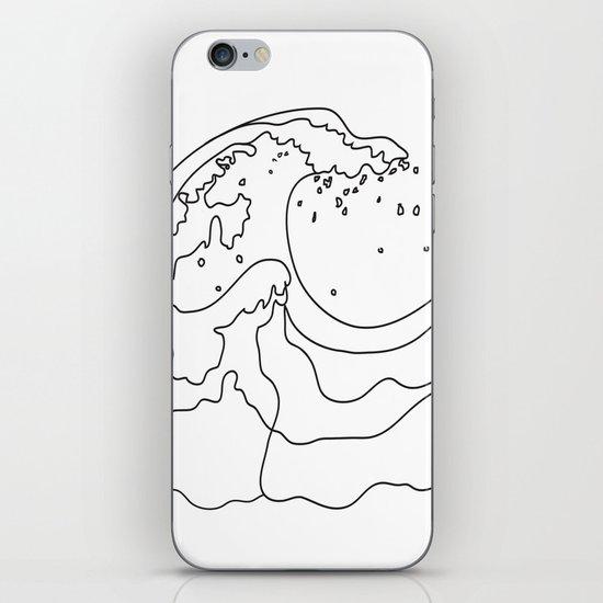 Minimal Line Art Ocean Waves by nadja1