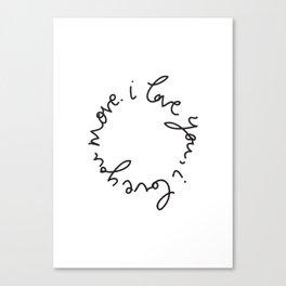 I love you, I love you more. Canvas Print