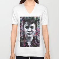 elvis V-neck T-shirts featuring ELVIS PRESLEY by Vonis