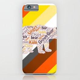 Gay bear art queer gift idea bear pride season  iPhone Case