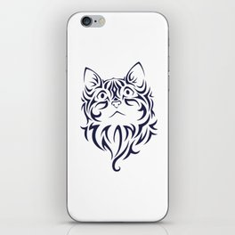 Front Facing Cat Kitten Face Stencil iPhone Skin